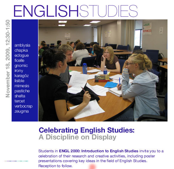 ENGL 2000 Poster 111809